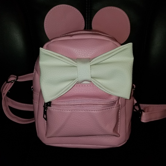 Bags   Pink White Minnie Mouse Backpack   Poshmark d83f7c5cbb2